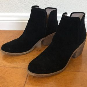 Hinge Barris leather black suede size7